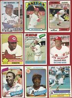 Lot of 45 Different 1967-1985 Topps Joe Morgan HOF Reds As Giants Astros AMAZING