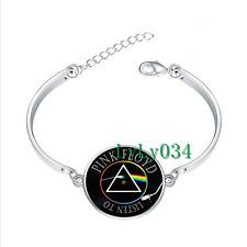 Pink Floyd Music glass cabochon Tibet silver bangle bracelets wholesale