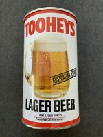 Vintage 1980's TOOHEYS LAGER Aussie Beer Can 24oz Steel Can, Bottom Opened VHTF!