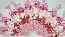 ** Girls Pink Pre Filled Goody Bags Millions Birthday Sweets Party Ribbon Kids *