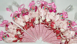 Girls Party Bags Pink Pre Filled Goody Millions Birthday Sweets Ribbon Kids