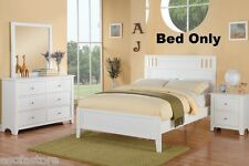 Modern Full Bed W/ White Country Style Eyelets Bedframe Bedroom Furniture
