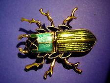 Brosche Käfer retro Emaille Scarabäus beetle bug Vintage brooch scarab