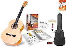 Guitarra Clasica Acustica Concerto Set Bolsa Tamano 3/4 Plectros Cuerdas Nylon