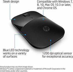 HP Z3700 Wireless Mouse Matte Black/Glossy Black V0L79AA#ABL