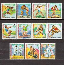 STAMPS.Equatorial Ecuatorial Guinea,Mi. 860-870 Olympic Games Montreal 76. Sport