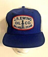 J.R. EWING OIL COMPANY PROMO HAT FROM DALLAS TV SHOW Rare Mesh Snapback