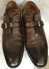 john varvatos Shoe Men's Brown Leather Hombre Toe Top Buckle Strap Size 12