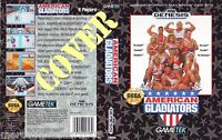 AMERICAN GLADIATORS (1992) SEGA GENESIS COVER, NO CARTUCCIA