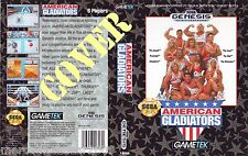 AMERICAN GLADIATORS (1992) SEGA GENESIS COVER, NO CARTUCCIA