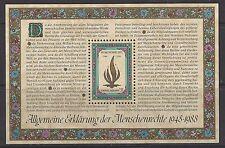 UNITED NATIONS, VIENNA  # 87  MNH  40TH ANNIVERSARY HUMAN RIGHTS  Souvenir Sheet