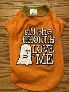 Dog/Cat Halloween Shirt Costume Sz Small? All The Ghouls Love Me