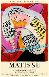 Matisse 1960 Aix En Provence France Vintage Poster Print Retro Style Travel Art