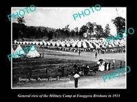 OLD POSTCARD SIZE PHOTO OF ENOGGERA AUSTRALIAN ARMY MILITARY CAMP c1915 QLD