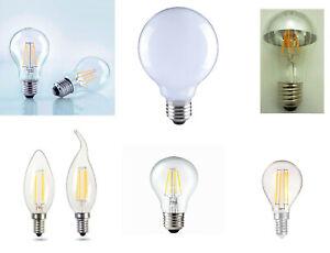 LED Leuchmittel E14 - E27 C35  Filament Sparsamer LED