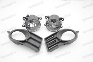 Front Bumper Driving Fog Lights Lamps Kit With Covers For Suzuki Swift 2005-2006