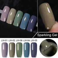 LEMOOC 8ml Nagel Gellack Holografisch Pulver Nail UV Gel Polish Soak Off Gel