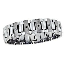 MEN'S Black Diamond Bracelet - Tungsten Polished & Matte -  OURS EXCLUSIVELY -