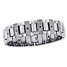 MEN'S Black Diamond Bracelet - Tungsten Polished & Matte -  OURS EXCLUSIVELY -