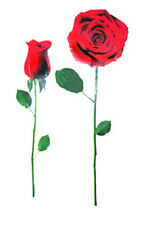 """RED ROSE WALL DECAL REMOVABLE 24"""" x 13"""" WASHABLE CAN REPOSITION new SEE PICS>>>"""