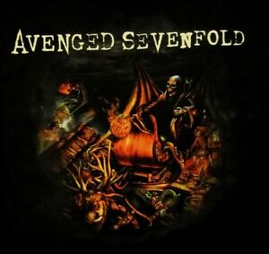 AVENGED SEVENFOLD cd lgo Nightmare AFTER CHRISTMAS Official SHIRT SMALL New oop