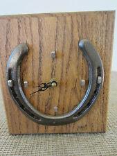 "Western Americana, ""Horseshoe"" Wooden Box Clock"