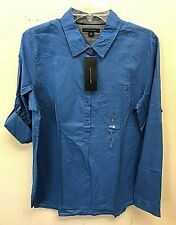 Tommy Hilfiger Blue Button Down Long Sleeve Ladies L NWT