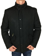 """Mens Black Padded Barbour Powell Jacket Size XXL 52"""" Chest 100 Genuine"""