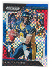 2019 Panini Prizm Draft Picks Prizms Red White and Blue #2 Aaron Rodgers /99