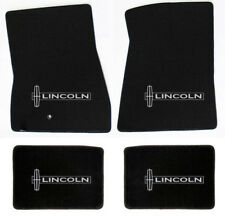 NEW! Black Floor Mats 1998-2010 Lincoln Town Car Embroidered star Logo on all 4