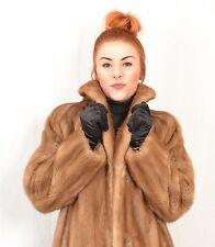 US374 Saga Mink Fur Coat jacket FULL LENGTH abrigo de vison 80s Nerzmantel ca. L