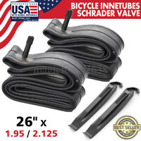 """26"""" x1.95/2.125 Bicycle InneTubes Schrader Valve for Mountain Bike Tire, Pack 2"""