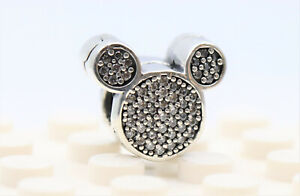 new Authentic Pandora Silver ALE 925 #791931 Disney Mickey Mouse Ears Clip Charm