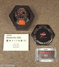 Casio G-Shock Men's Black Ana-Digi Dial Orange Resin Strap Alarm Watch GA1000-4A