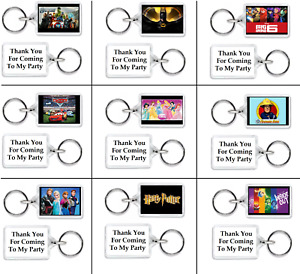 10 x FUNKY PERSONALISED KEYRINGS PARTY BAG FILLERS - GIFTS THEME F