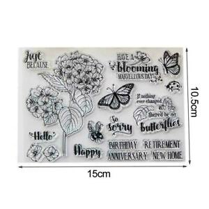 Transparent Clear Butterfly/Flower Stamp Set Card Making/scrapbooking
