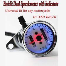 Motorcycle LED Dual Speedometer For Suzuki Intruder VS 700 750 800 1400 1500 GL