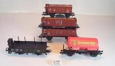 H0 verschiedene Hersteller Güterwagen Konvolut 2-achsig KKK NEM #6174