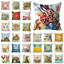 Lot Spring Easter Bunny Egg Pillow Case Throw Cushion Cover Home Sofa Decoration