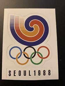 "1988 Summer Olympic Games Seoul South Korea Sticker 2.8"" x 3.7"""