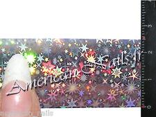 ROULEAU Foils Nail Art Foil ongle étoile Argent 150 cm