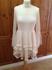 DANITY CREAM LAYERED NETTED DRESS UK SIZE M(12)WORN ONCE GREAT CONDITION