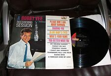 A BOBBY VEE RECORDING SESSION VG+ Liberty LP Mono Please Don't Ask About Barbara