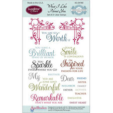 JUSTRITE Amazing Grace CLEAR Stamps WHAT I LIKE ABOUT YOU 21 Stamps AG-04780