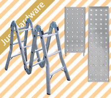 Aluminium Folding Step Ladder 3.7M Fully with platform Extended