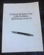 1989 Lexus LS400 ES250 Original Car Dealer Sales Brochure Catalog Prospekt