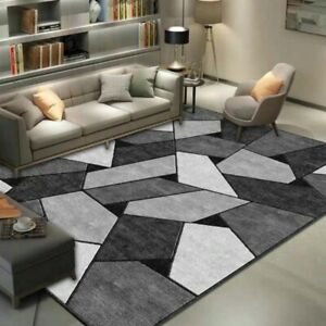 Home Living Room Carpet Nordic Geometric Modern Simple Absorbent Non-slip Carpet