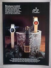 Rolex Cellini Watch PRINT AD - 1981 ~~ watches, wristwatch
