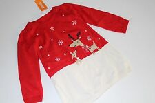 Gymboree Holiday Shop Girls Size 2T Sweater Dress Snowflake Reindeer NWT