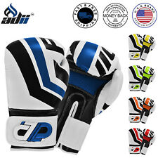 ADii™ SKINTEC™ Leather Boxing Sparring Training Gloves Muay Thai Kickboxing MMA